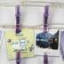 Merkury Innovations, Iridescent Firefly Lights Mini Clip LED String Lights, Purple, 15 feet