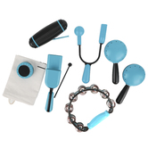 Luminote, Stage Pack with Storage Bag, Turquoise Blue and Black, 7 Pieces, Grades K-12