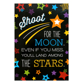 Chalk Talk Collection, Shoot for the Moon Motivational Poster, 13 x 19 inches