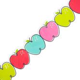 Creative Teaching Press, Core Decor Doodle Apples EZ Border, Straight, 48 Feet, 24 Pieces