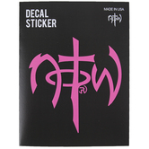 NOTW, Classic Logo Window Decal, Hot Pink, 5 x 5 Inches