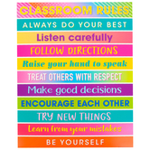 Teacher Created Resources, Colorful Vibes Class Rules Chart, 17 x 22 Inches, 1 Each