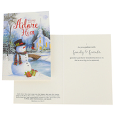 Renewing Faith, Matthew 2:11 O Come Let Us Adore Him Boxed Christmas Cards, Blue/White, 4 1/2 x 6 1/2 inches, 18 cards