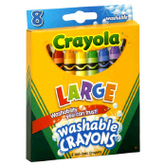 Crayola, Large Washable Crayons, 8 Count