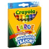 Crayola, Large Washable Crayons, 8 Count