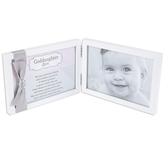 The Grandparent Gift Co, Goddaughter Sentimental Photo Frame, Metal, White, 4 x 6 Inches