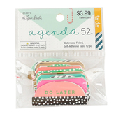 the Paper Studio, agenda 52 Watercolor Foiled Tabs, 1 Each of 12 Designs