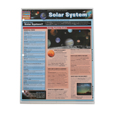 BarCharts Inc, Solar System Laminated Quick Study Guide, 8.5 x 11 Inches, 4 Pages