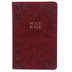 KJV Large Print Personal Size Reference Bible, Imitation Leather, Burgundy, Thumb Indexed