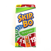 Mattel, Skip Bo Card Game, Ages 7 Years and Older, 2 or More Players