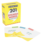 Barron's, 201 Spanish Words You Need to Know Flashcards, 4 x 5 inches, 206 Cards