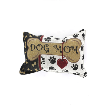 Simply Home, Dog Mom Small Throw Pillow, 7 1/4 x 12 inches