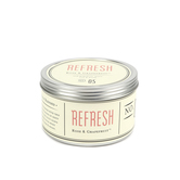 Refresh Aromatherapy Candle in Tin, Rose & Grapefruit Scent, 11 Ounces, 4 x 3 1/8 inches
