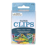 On Schedule, Bright Vinyl Paper Clips, 1 1/4 x 3/8 inches, Set of 100