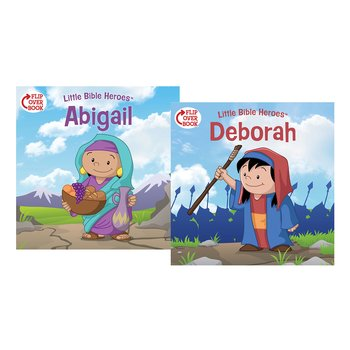 Little Bible Heroes, Deborah and Abigail, Flip-Over Book, by Victoria Kovacs, Paperback