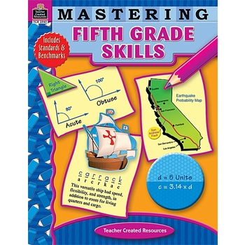 Teacher Created Resources, Mastering Fifth Grade Skills Activity Workbook, 240 Pages, Grade 5
