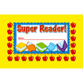 North Star Teacher Resources, Super Reader! Punch Cards, 4 x 2.5 Inches, Pack of 36