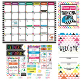 Renewing Minds, Customizable Calendar Bulletin Board Set, Multi-Colored, 116 Pieces