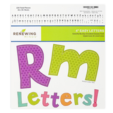 Renewing Minds, Colorful Burlap Bulletin Board Letters, Upper and Lowercase, 4 Inches, Assorted Colors, 220 Pieces