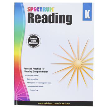 Carson-Dellosa, Spectrum Reading Workbook, Paperback, 166 Pages, Grade K