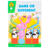School Zone, Same or Different Deluxe Edition Workbook, Get Ready, Paperback, 64 Pages, Preschool Ages 3-5