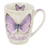 Christian Art Gifts, Jeremiah 17:7 Blessed Coffee Mug, Ceramic, Purple, 12 ounces