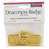 B&H Publishing Group, Deaconess Badge with Cross, Zinc Alloy, Brass, 2 x 2/3 inches