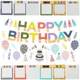 Farmhouse Lane Collection, Birthday Bulletin Board Set, 54 Pieces