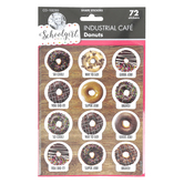 Schoolgirl Style, Industrial Café Donuts Motivational Stickers, Multi-Colored, 72 Stickers
