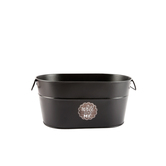 Bright Ideas, Oval Metal Pail with Handles, Black, 12 x 7 x 5 1/2 inches
