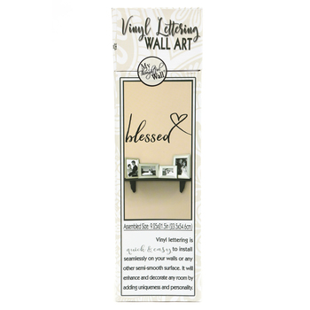 My Thoughtful Wall, Blessed Vinyl Wall Decal, Black, 21 1/2 x 9 1/4 inches