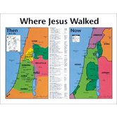 Where Jesus Walked: Then and Now, by Rose Publishing, Wall Chart