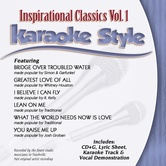 Inspirational Classics Volume 1, Karaoke Style, by Various Artists, CD+G
