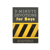 3-Minute Devotions for Boys, by Tim Baker and Glenn Hascall, Paperback