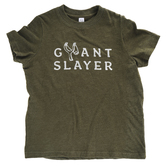 Crazy Cool Threads, Giant Slayer, Kid's Short Sleeve T-Shirt, Olive, 2T-5T