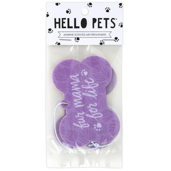 About Face Designs, Fur Mama For Life Air Freshener, Jasmine, 3 3/4 x 2 1/2 inches, Set of 2