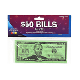 Learning Advantage, Fifty Dollar Bill Play Money, 6 1/4 x 2 1/2 inches, Set of 100