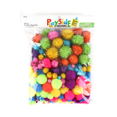 Playside Creations, Pom Pom Mega Pack, Assorted Colors and Sizes, 320 Count