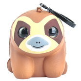 US Toy, Squishy Sloth with Clip, 3 inches