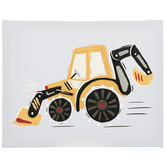 Tractor Wall Decor, Canvas, Yellow and Black, 11 x 14 x 1 1/4 inches