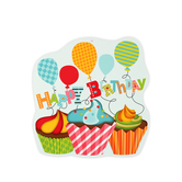 Renewing Minds, Happy Birthday 2-Sided Decoration,Multi-Colored, 15 x 15 Inches, 1 Piece