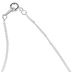 Dicksons, I Don't Know the Future Mobius Necklace, Silver Plated, 20 inches