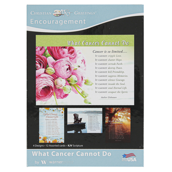 Warner Press, What Cancer Cannot Do Encouragement Boxed Cards, 12 Cards with Envelopes