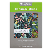 DaySpring, Botanical Blessings Congratulations Boxed Cards, 12 Cards with Envelopes