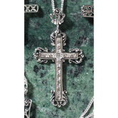 Dicksons, Fancy Budded Cross Necklace, Silver Plated, 18 inches