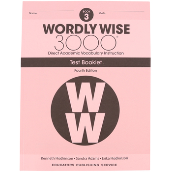 Wordly Wise 3000 4th Edition Test Booklet 3, Paperback, Grade 3