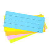 Lined Flashcards, 1.50-Inch Ruled, Bright Multi-Colored, Five Colors, 3 x 7.50 Inches, Pack of 75