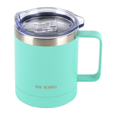 Christian Art Gifts, Be Kind Camp Mug, Stainless Steel, Teal, 12 ounces