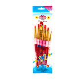 Big Kid's Choice, Deluxe Shader Paint Brush Set, Red, 6 Pieces