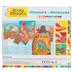The Orb Factory, Sticky Mosaics Dinosaurs DIY Kit, 4 Designs, 2120 Pieces, Grades K-5